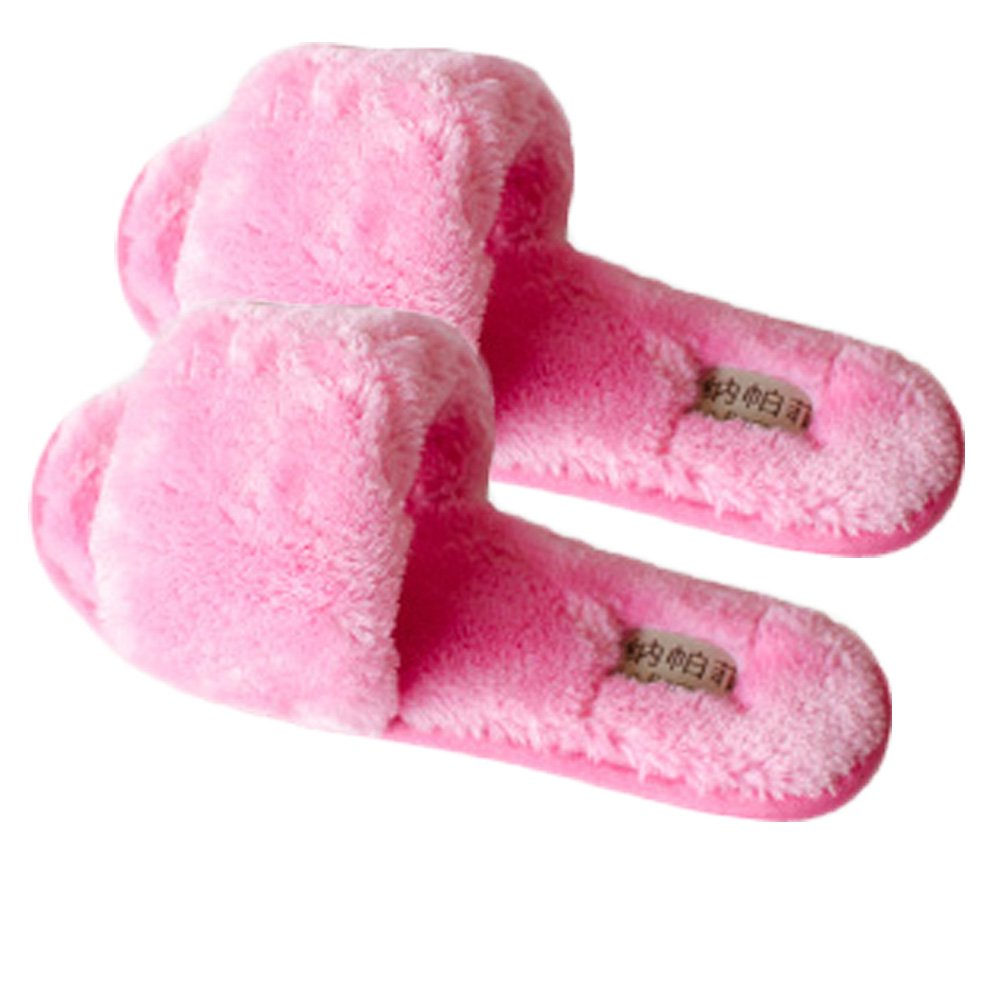 Pairs Womens Indoor Comfortable Soft Cotton Female Plush House Slipper Pink Kylin Express