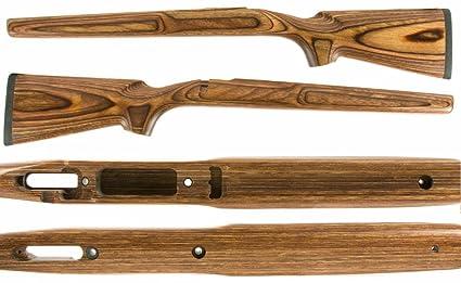 Numrich Savage 12 VLP Brown Laminated Stock (RH, SA, Heavy Varmint)