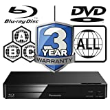 Panasonic DMP-BD84EB Smart ICOS Multi Region All Zone Code Free Blu-ray Player. Blu-ray regions A, B and C, DVD regions 1 - 8. YouTube, Netflix etc. HDMI output. HDD Playback. Matt Black Finish