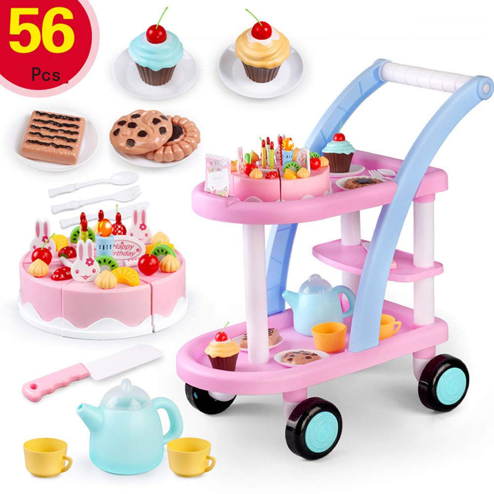 Ramendy Children's Gifts Birthday Cake Shopping Cart Package Pretend Toys
