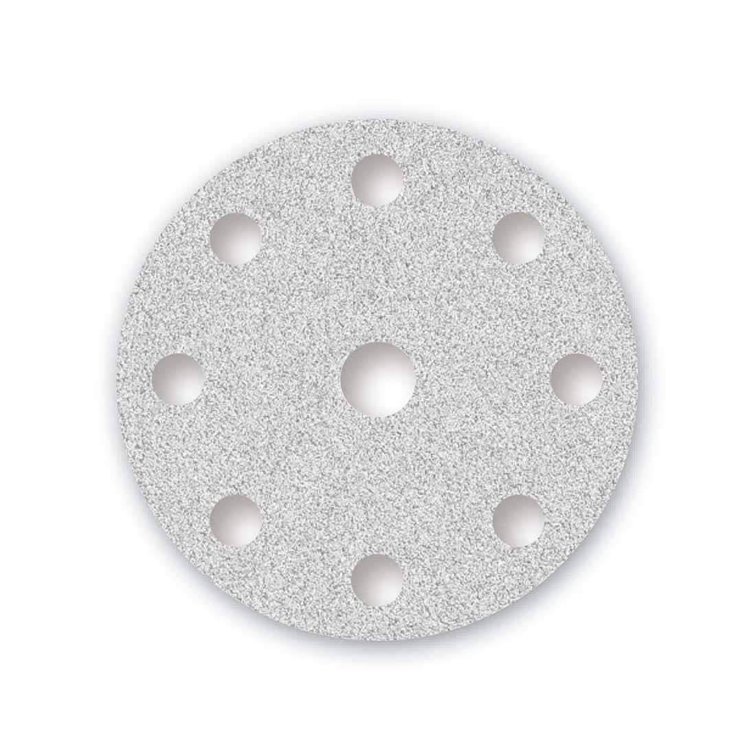 150 mm Lot de 50 MENZER Disques de Pon/çage Auto-agrippants pour Ponceuse Excentrique 9 Trous Blanc Grain 120