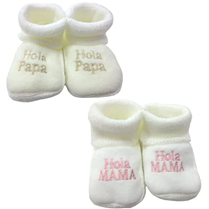 PEKITAS Pack 2 Pares Bebe Niño Patuco Zapato Con Letras Bordadas 80 ...