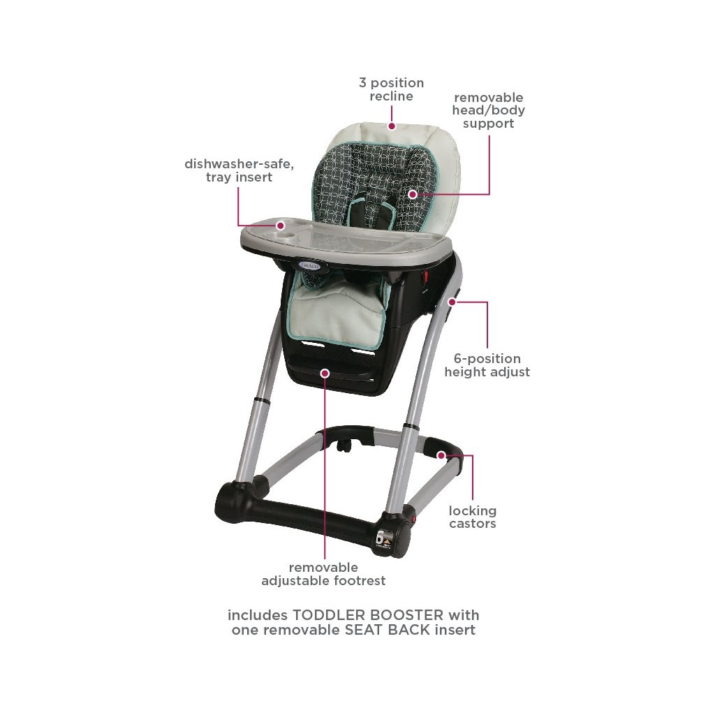 Graco Blossom 4-in-1 Convertible High Chair Seating System, Sapphire by Graco (Image #6)