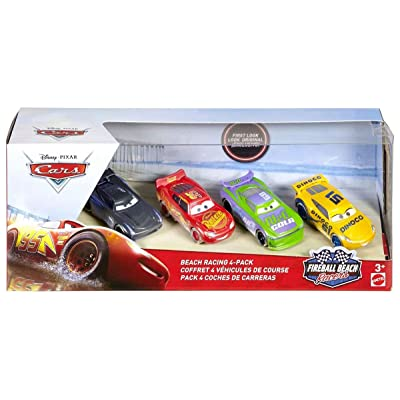 Action Fireball Beach Disney Cars Cam Spinner Lightning McQueen Cruz Ramirez Sheldon Shifter 4 Pack 1 55 Scale Diecast: Toys & Games