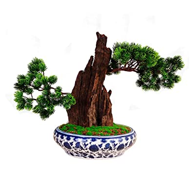 Artificial Bonsai Tree/Welcome Bonsai Artificial Bonsai Tree - Fake Plant Decoration, Potted Artificial House Plants, Japanese Pine Bonsai Plant, For Decoration, Desktop Display Faux Potted Plant: Home & Kitchen