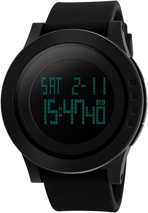 bde7ec4aaf39 CIVO Relojes de Pulsera Para Hombre Digital de los Deportes del Reloj de la  Cara Grande Militar 5ATM Relojes Impermeables de Goma Llevado del Simple ...