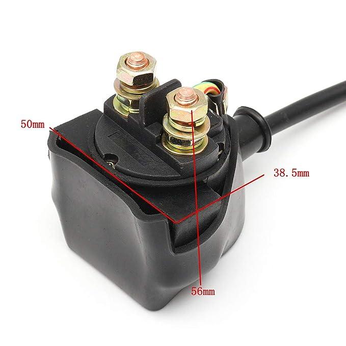 Uokoki Completa eléctrico de Arranque del Motor arnés de cableado Telar Bobina del solenoide 110 Regulador de 125cc ATV Quad Buggy: Amazon.es: Coche y moto