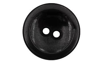 Schwarz Grau Dunkel Glänzend Metall Knöpfe 2 Löcher Schüssel Form 17mm  Metallknöpfe 5 Stück