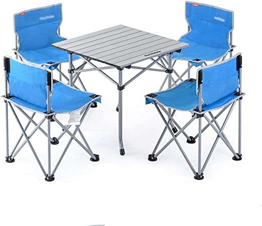 Giantex Portable Folding Camping Table Chairs Set Outdoor Camp Beach Picnic with