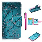 iPhone 6/6S Case, Firefish High Grade PU Leather Wallet [Card Pockets] [kickstand Feature] Magnetic Closure and Scratch-Resistant Case for iPhone 6/6S - Plum Blossom