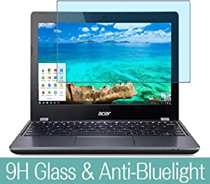 "Synvy Anti Blue Light Tempered Glass Screen Protector for Acer chromebook 11 C740-H14N,F34N 11.6"" Visible Area 9H Protective Screen Film Protectors (Not Full Coverage)"