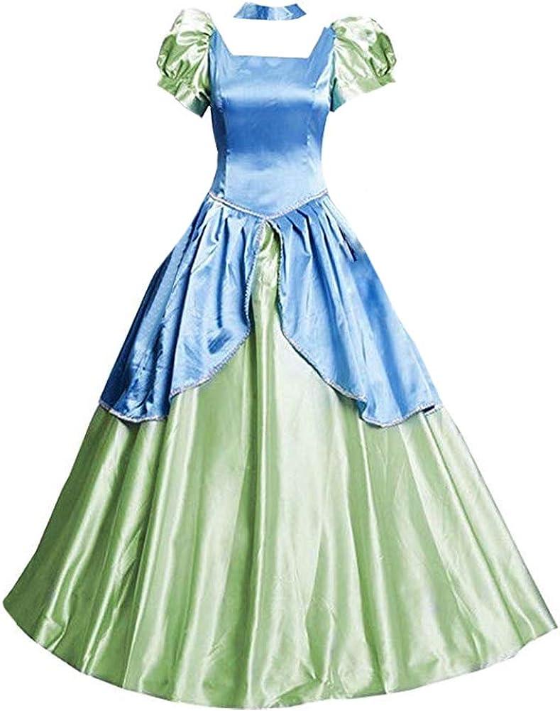 New women Anastasia princess party Yellow cosplay dress Lolita cosplay costume