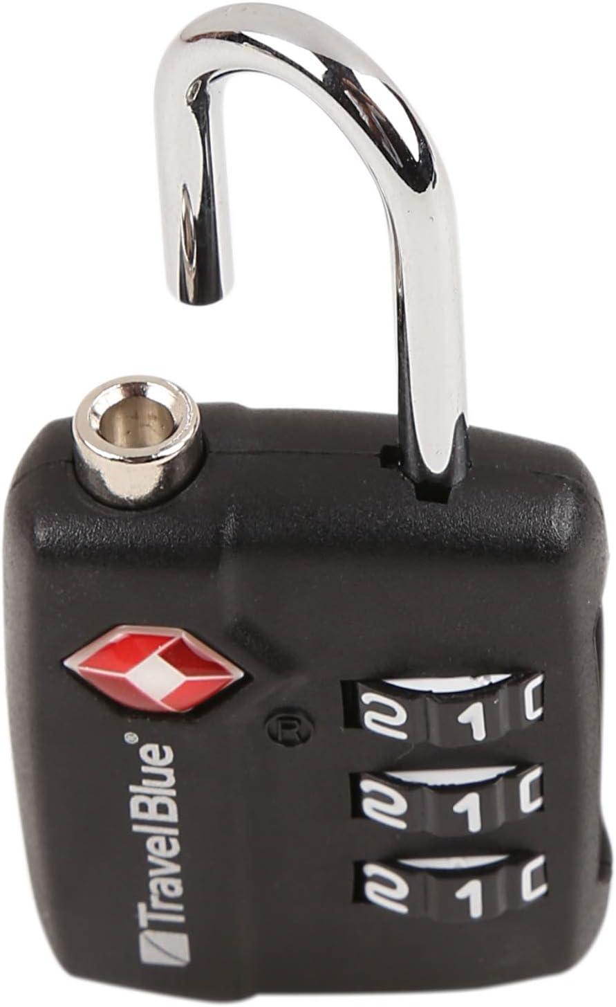 Travel Blue  TSA Combination Luggage Lock One Size Travel Blue LTD 036 Black