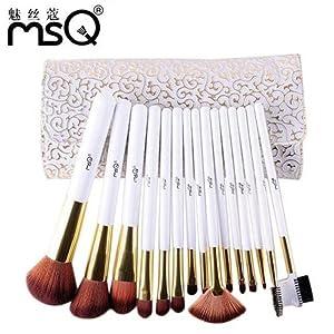 ShungHO MSQ Brand 15pcs Makeup Brushes Set,Roman Style Beauty Comestic Makeup Brushes Tools Kits
