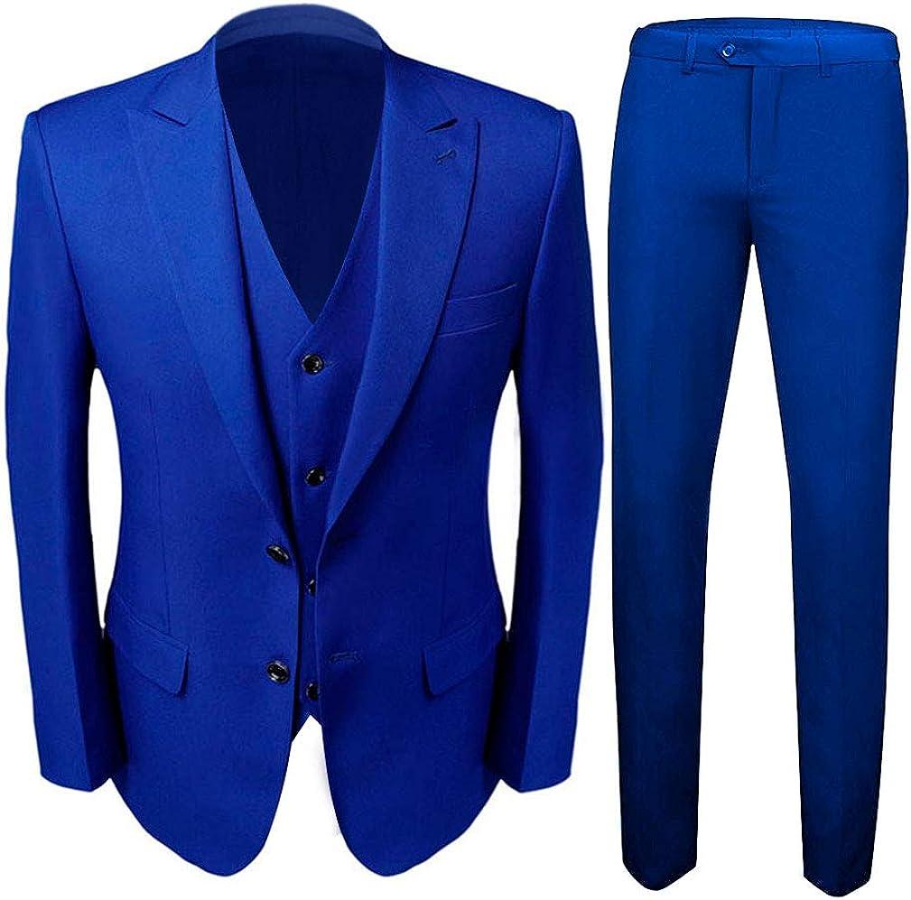 men s royal blue groom tuxedos 3 pc men suits 2 buttons wedding suits for men at amazon men s clothing store men s royal blue groom tuxedos 3 pc men suits 2 buttons wedding suits for men