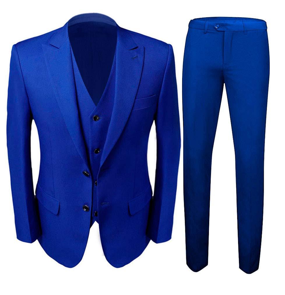 Botong Royal Blue Slim Fit Men Suits Groomsmen Suits 2 Pieces Wedding Suit