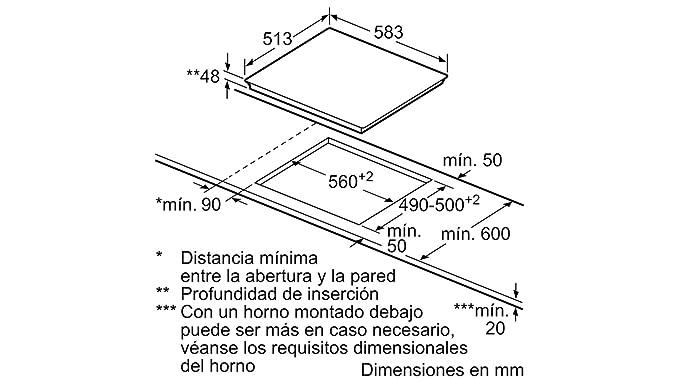 Balay - Placa vitrocerámica 3eb765xq con 3 zonas de cocción ...