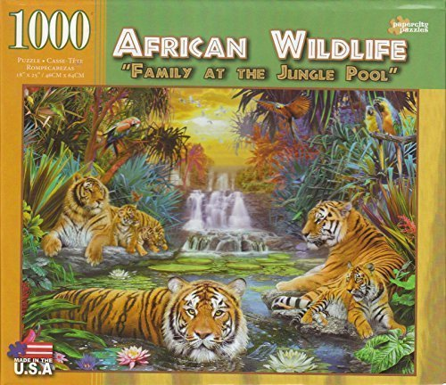 Family At the Jungle Pool 1000 Piece Puzzle