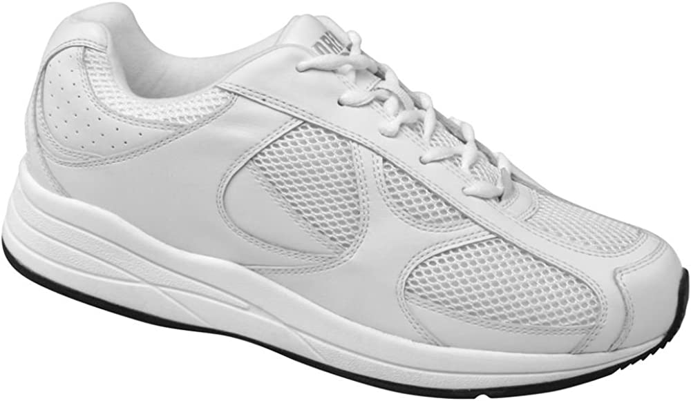Drew Shoe Mens Surge White Lace Up Sneakers 15 4W