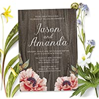 Rustic Custom Elopement Reception Invitation Cards, Personalized Wedding Reception Invitations, Wedding Party Invitation Cards