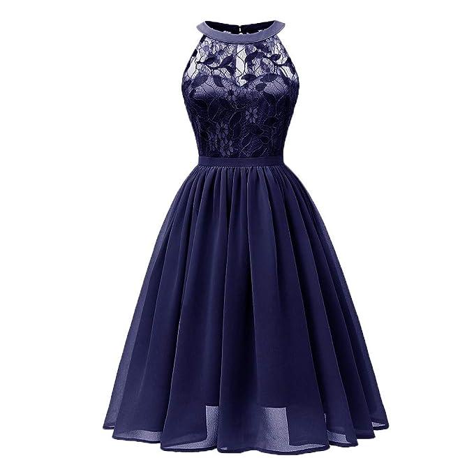 f55bf4eaf26b VECDY Elegante Vestido Princesa del Cordón del Cóctel del Partido ...