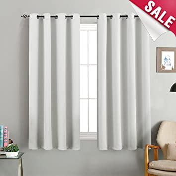 Amazoncom Curtains White Bedroom 63 Inch Length Room Darkening