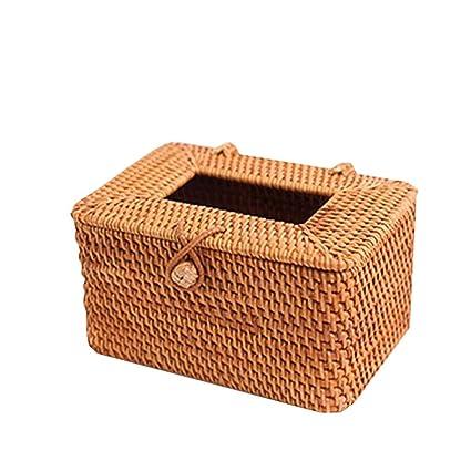 Uus Caja de Tejido de ratán Vintage, Bandeja de cartón de Bandeja de Madera práctica