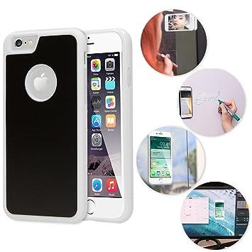NALIA Funda Anti-Gravity Compatible con iPhone 6 6S, Carcasa Movil Cobertura Ultra-Fina Selfie-Case Autoadhesivo Protectora, Manos Libres Cubierta ...