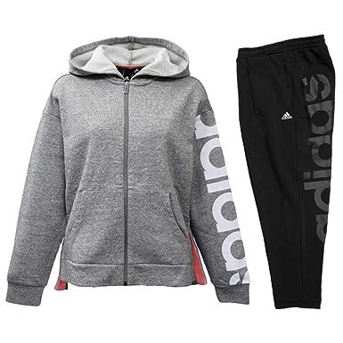 32f5342ea3760d Amazon | アディダス adidas レディース スウェット上下 フード付き 裏起毛 JOTサイズ FAT20 | 上下セット 通販