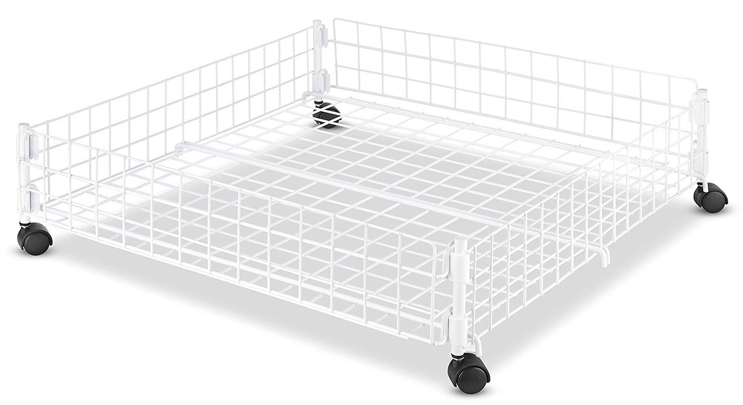 Rolling Underbed Storage Drawers Heavy Duty Frame With A White Epoxy Finish Equipped With Wheels For Quick Access For Clothes Shoes Bags And More Lifts