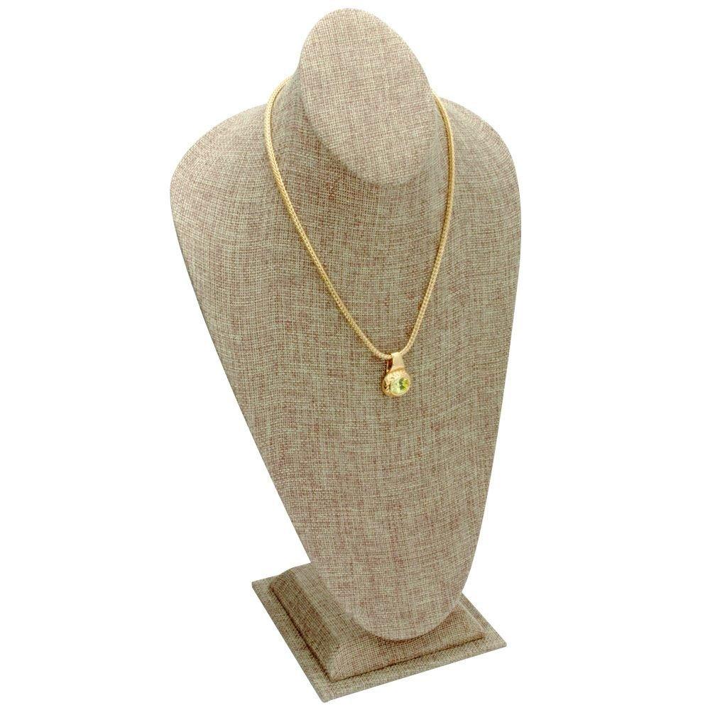 Tall Necklace Display Burlap