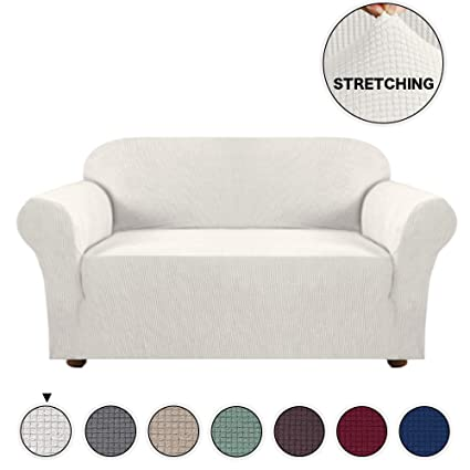 Groovy Turquoize High Stretch Loveseat Cover For Living Room Form Fit Stretch Furniture Cover Protector Anti Slip Foams Machine Washable Loveseat Covers For Dailytribune Chair Design For Home Dailytribuneorg