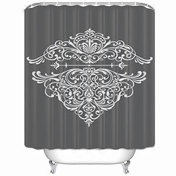 Amazon InnoDIY Shower Curtains Ornate Border Western