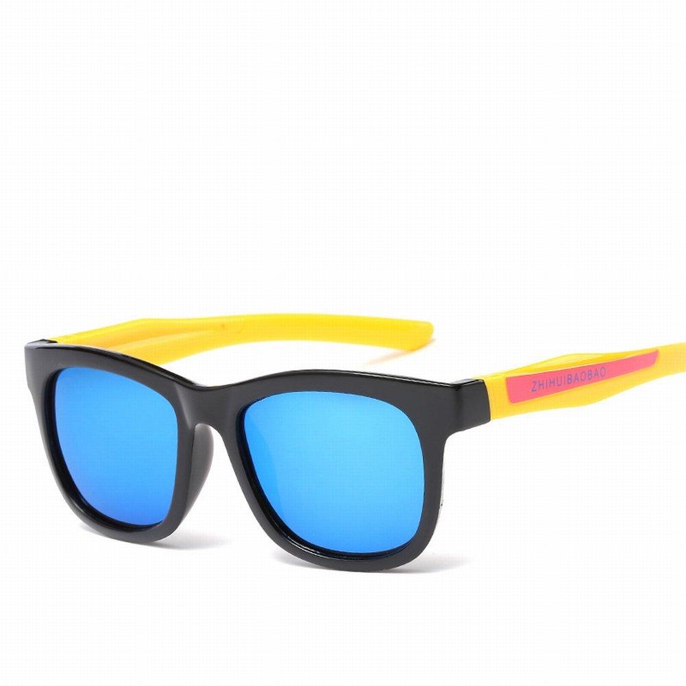Kinder Modische Bequeme Silikon Sonnenbrille Kinder Karikatur Polarisierte Sonnenbrille , Schwarzer Rahmen