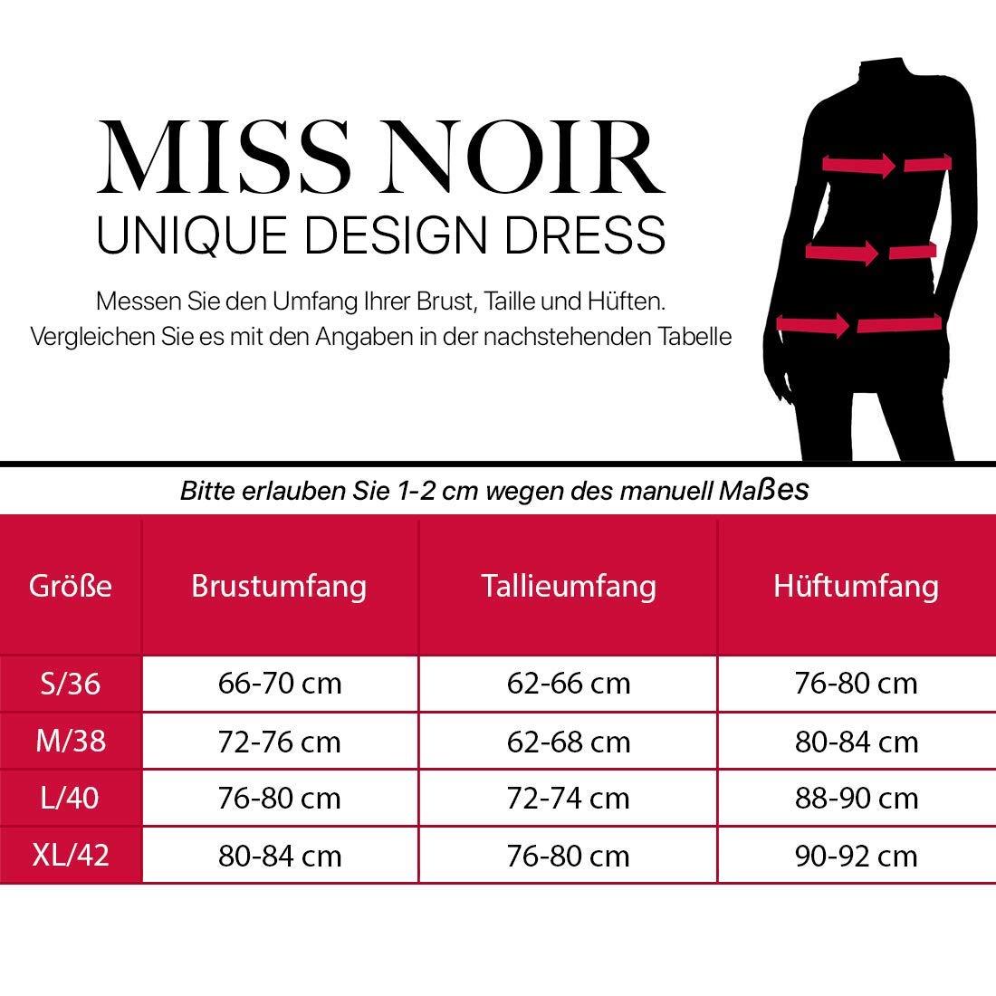 Miss Noir Damen Overall im Wetlook Spielanzug Clubwear Party Kleidung mit Zweiwege-Rei/ßverschluss