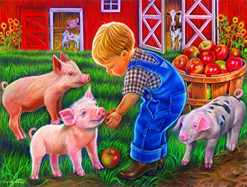 Farm Boy 300 Piece Jigsaw Puzzle by SunsOut - Farm Theme