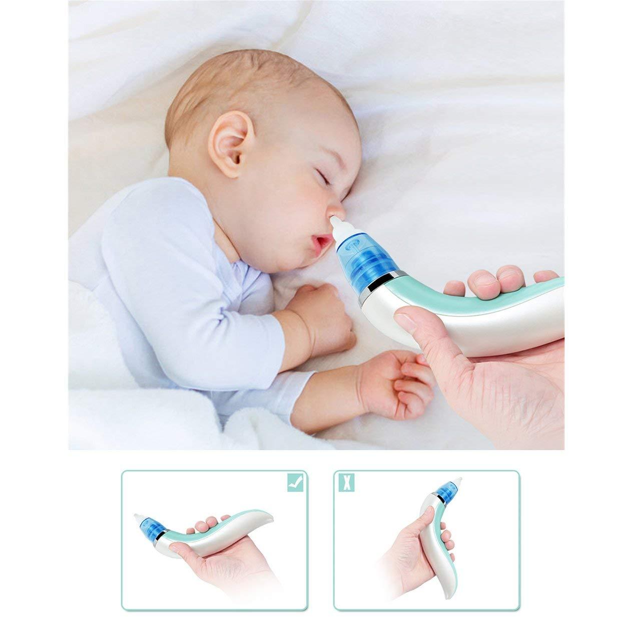 Gelb hygienischer Nasensauger Kid Baby Nasensauger Elektrischer Nasenreiniger Neugeborenes Saugnapfreiniger Schn/üffelausr/üstung Sicherer