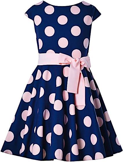 Sly Mädchen Kleid Festlich Hochzeit Jugendweihe Einschulung Sommerkleid Blau