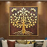 Southeast asian decorative painting/thai style decorative painting/ living room porch decorative painting/[corridor paintings]/pure handmade abstract decorative painting-A 90x90cm(35x35inch)