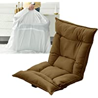 Camping Chairs for Adults Comfy with Storage Bag, Lightweight Reclining for Outdoor, Floor Chair with Back Support 6…