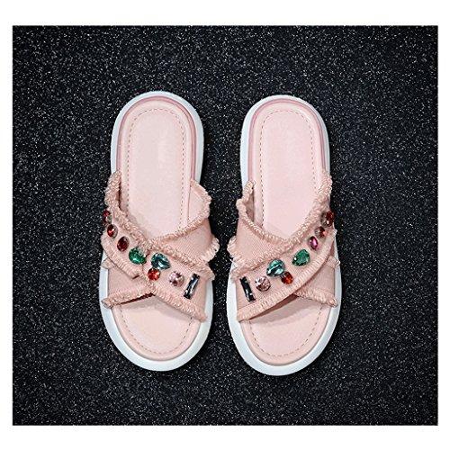 Femme Taille Sandales des Chaussons Pantoufles Sport d'été Mode Porter 5 Chaussures 4 de de qffFwRPt