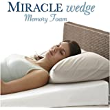 "Memory Foam Wedge Pillow for Acid Reflux. Visco Wedge Pillow for Gerd, Snoring. 24"" L, 24"" W, 7.5"" H"