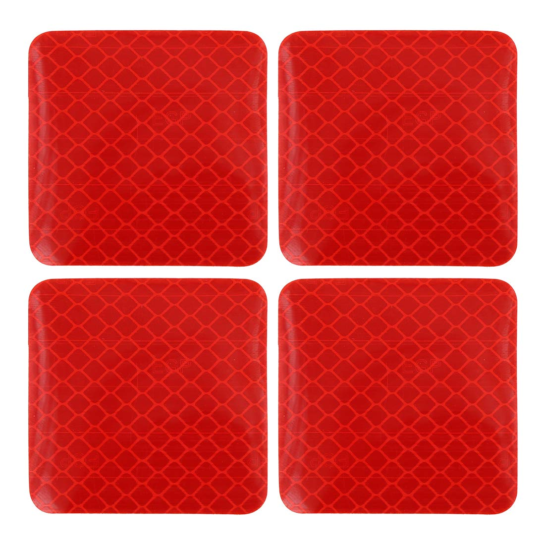 X AUTOHAUX 12pcs Automotive Reflective Stickers Night Visibility Safety Reflective Rear Bumper Tape Universal Adhesive for Car 5 x 5cm Red