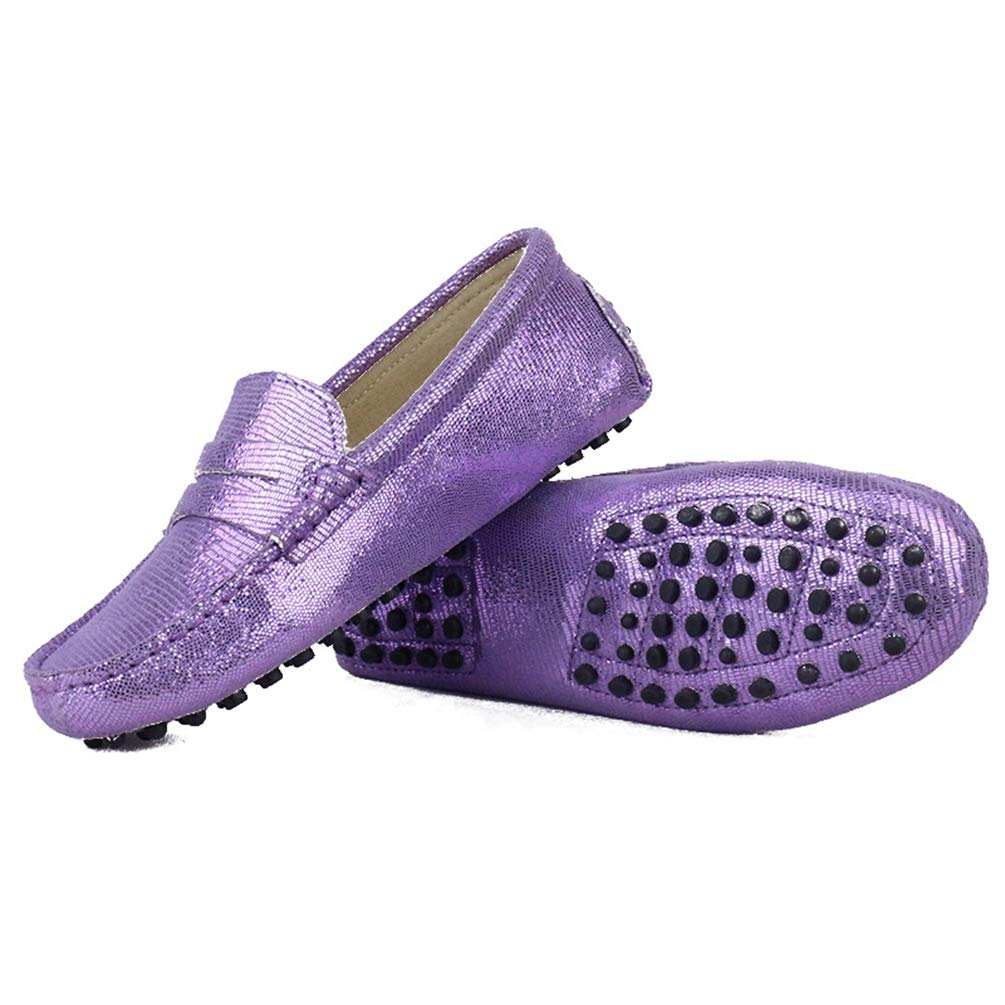 JOYBI Women Casual Driving Shoes Moccasins Leather Slip On Comfort Round Toe Glitter Fashion Flat Loafers
