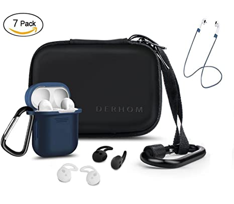 Airpods Accessories - Derhom Apple Airpods Funda de Silicona (Azul)