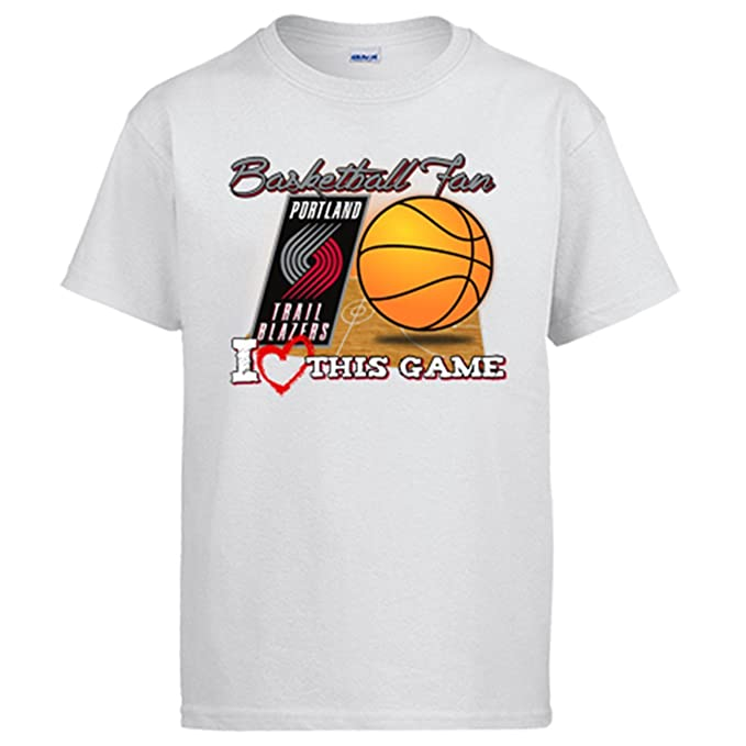 Camiseta NBA Portland Trail Blazers Baloncesto Basketball fan I Love This Game - Blanco, 12-14 años: Amazon.es: Ropa y accesorios