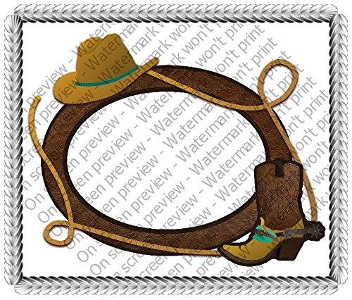 Cowboy Photo Cake Edible Image Cake Topper Decoration Edi...
