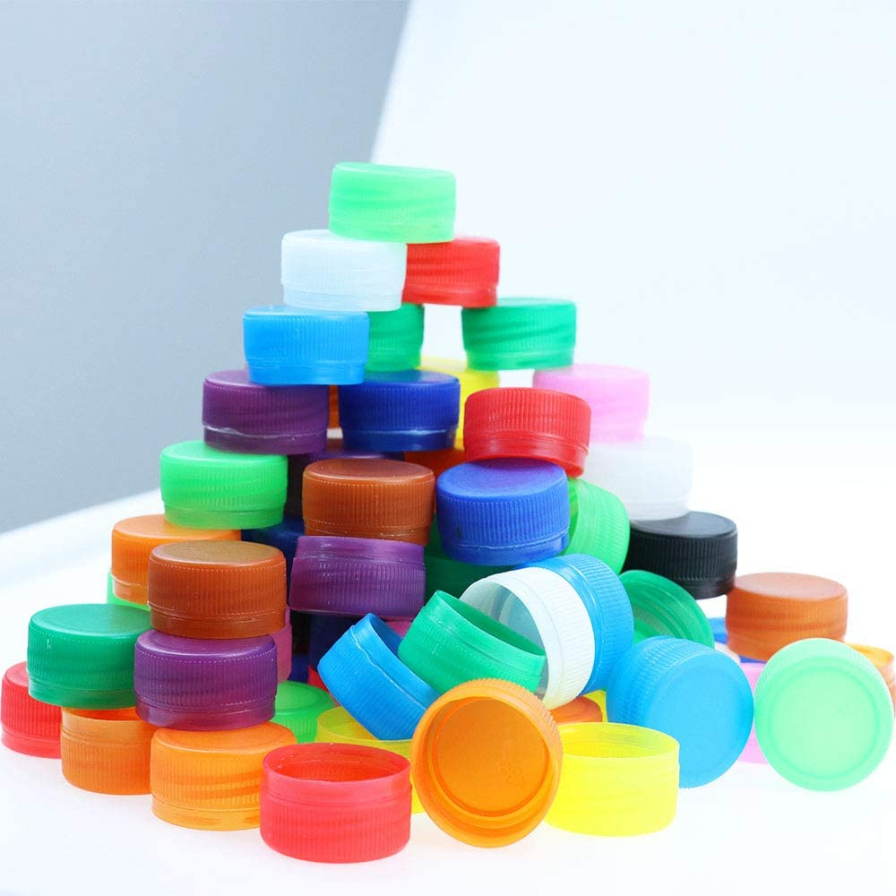 Motbach 200Pcs Plastic Bottle Caps for DIY Craft Environmental Protection and Development of Children/'s Intelligence Mixed Color