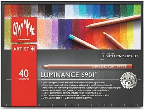 Caran Dache Luminance Colored Pencil Set of 40 6901.740