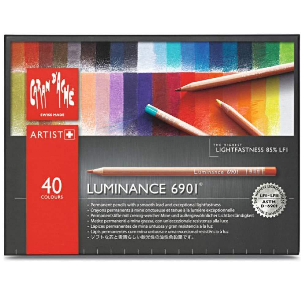 Caran d/'Ache Luminance 6901 Professional Colour PencilSet of 12 Assorted